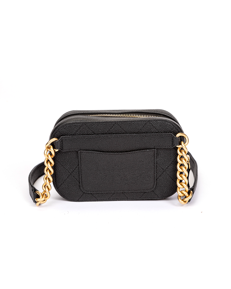 Chanel Camera Case Waist Bag with Black Grained Calfskin