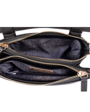 Chanel CC Mania Waist Belt Bag with Black Lambskin Leather