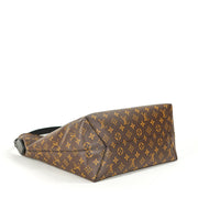 Louis Vuitton Flower Hobo Bag with Monogram Coated Canvas
