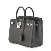 Hermes Birkin 25 Handbag with Black Togo Leather