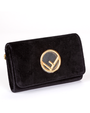 Fendi Wallet on Chain with Black Velvet