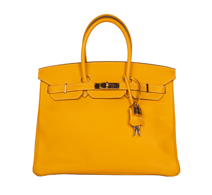 Hermes Birkin 35 with Jaune D'Or Epsom Leather