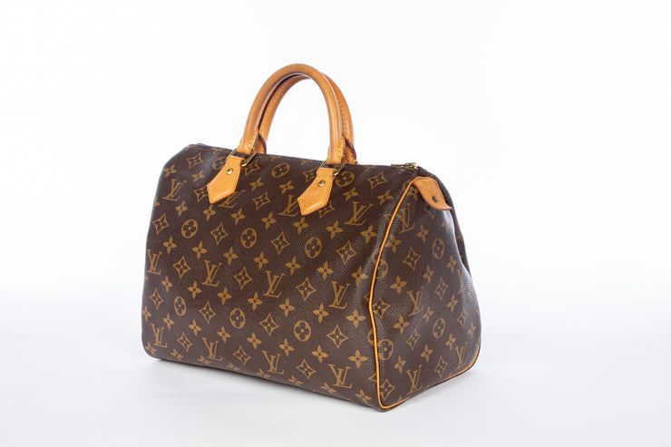Louis Vuitton Speedy 30 Handbag with Monogram Canvas