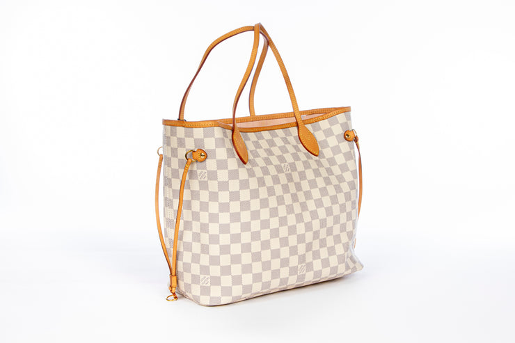 Louis Vuitton Neverfull MM with Damier Azur Canvas