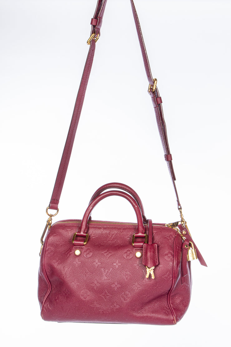 Louis Vuitton Speedy 25 Bandouliere with Aurore Empriente Leather