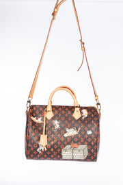 Louis Vuitton Speedy 30 Bandouliere with Catogram Canvas