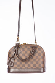 Damier Ebene Louis Vuitton Alma BB Cross Body