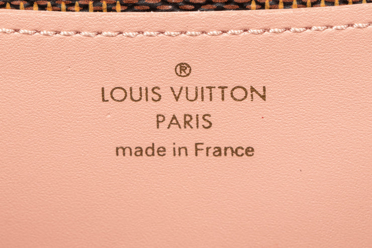 Louis Vuitton Damier Ebene Croisette Wallet on Chain