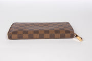 Louis Vuitton Zippy Zip Around Wallet with Damier Ebene Canvas