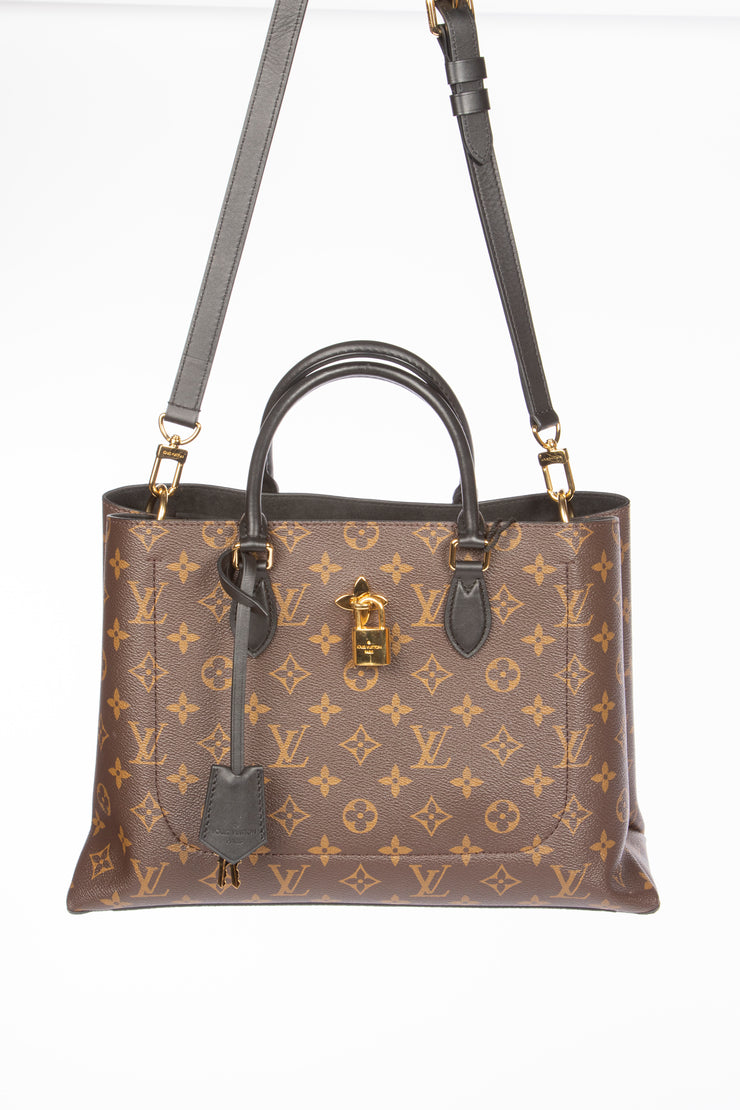 Louis Vuitton Flower Tote with Monogram Canvas