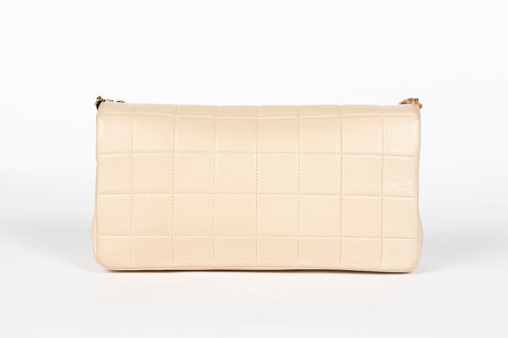 Chanel Lucky Charms Chocolate Bar Flap Bag in Ivory Quilted Lambskin