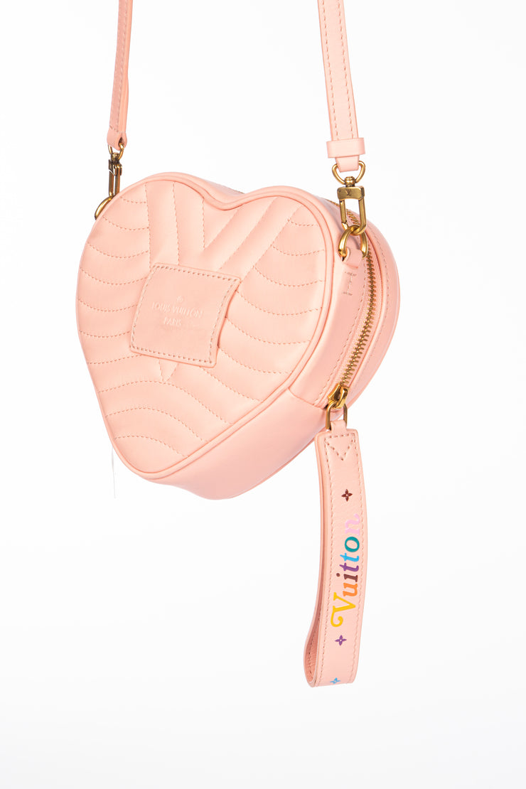 Louis Vuitton New Wave Heart Shoulder Bag in Pink Calfskin