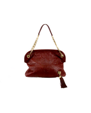 Louis Vuitton Paris Souple Wish Handbag in Burgundy Embossed Leather