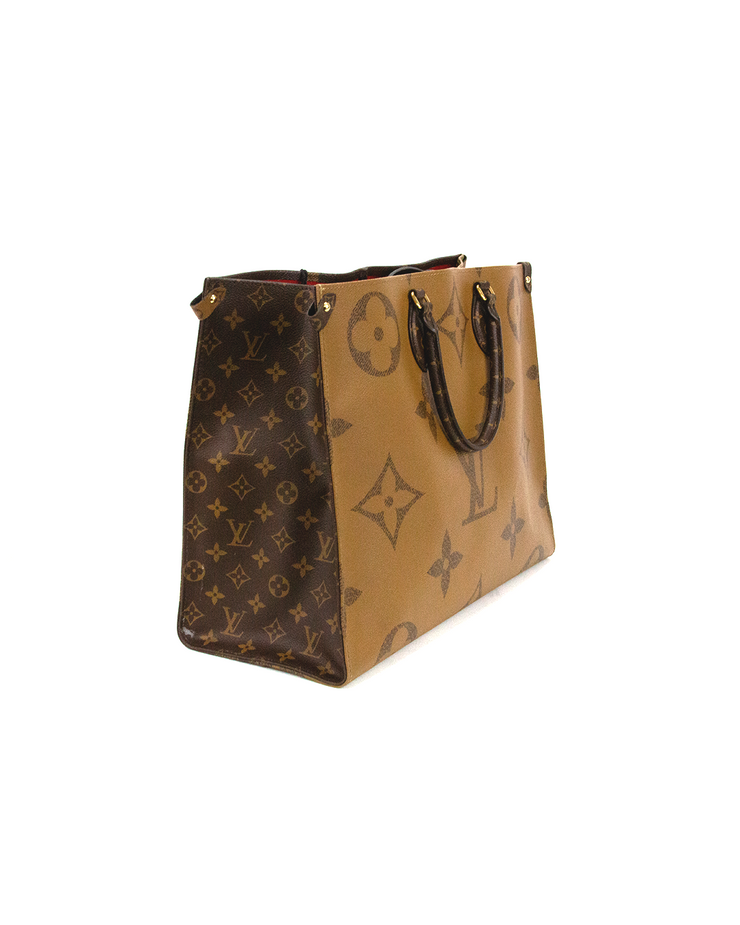 Louis Vuitton OnTheGo Tote Bag in Giant Reverse Monogram Canvas