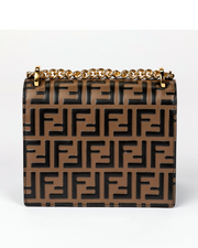 Mini Brown Fendi Kan U Shoulder Bag with FF Logo