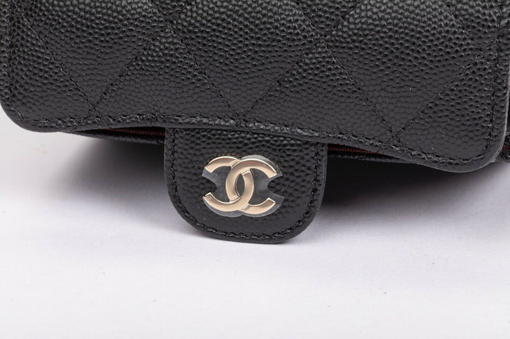 Chanel Flap Coin Purse with Black Quilted Caviar