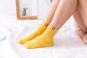 Solid Striped Socks - The Yellow Sock