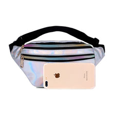 Load image into Gallery viewer, holographic fanny pack - The Yellow Sock