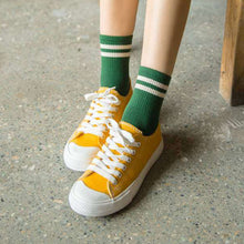 Load image into Gallery viewer, two stripes socks - The Yellow Sock