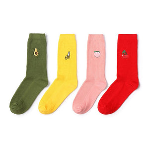 4 pairs fruit socks - The Yellow Sock