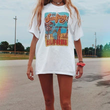 Load image into Gallery viewer, beach oversized t-shirt - The Yellow Sock