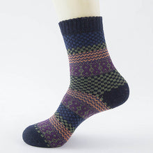 Load image into Gallery viewer, Wool Striped Socks - The Yellow Sock