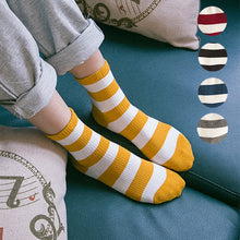 Load image into Gallery viewer, Striped Colourful Socks - The Yellow Sock