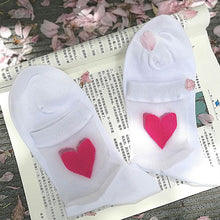 Load image into Gallery viewer, Transparent Heart Socks - The Yellow Sock
