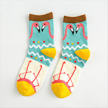 Load image into Gallery viewer, Flamingo Socks - The Yellow Sock
