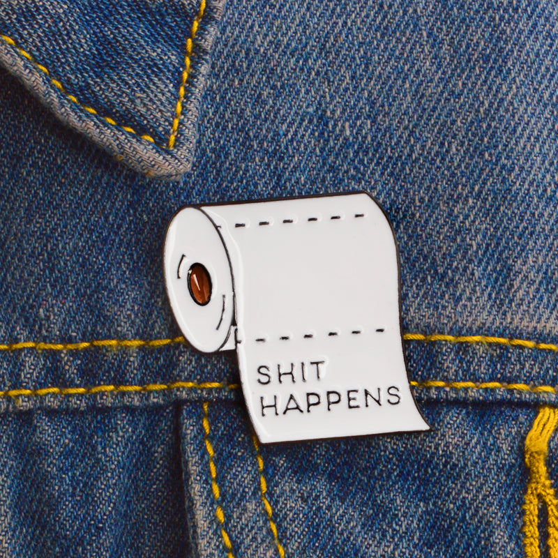 Shit Happens Pin - The Yellow Sock
