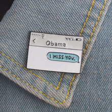 Load image into Gallery viewer, Hey Obama Pin - The Yellow Sock