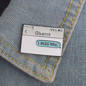 Hey Obama Pin - The Yellow Sock