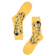 Load image into Gallery viewer, Painting Style Socks - The Yellow Sock