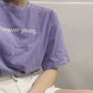 forever young t-shirt - The Yellow Sock