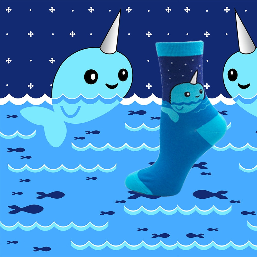 Whale Unicorn Socks - The Yellow Sock
