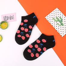 Load image into Gallery viewer, Short Fruit Socks - The Yellow Sock