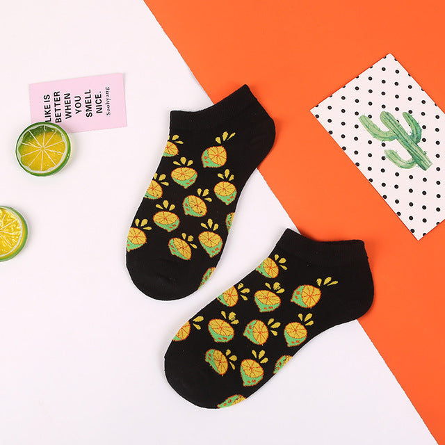 Short Fruit Socks - The Yellow Sock
