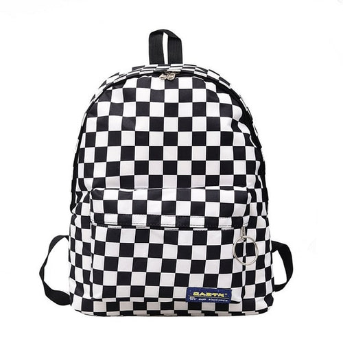 checkers backpack - The Yellow Sock