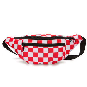 checkers fanny pack - The Yellow Sock