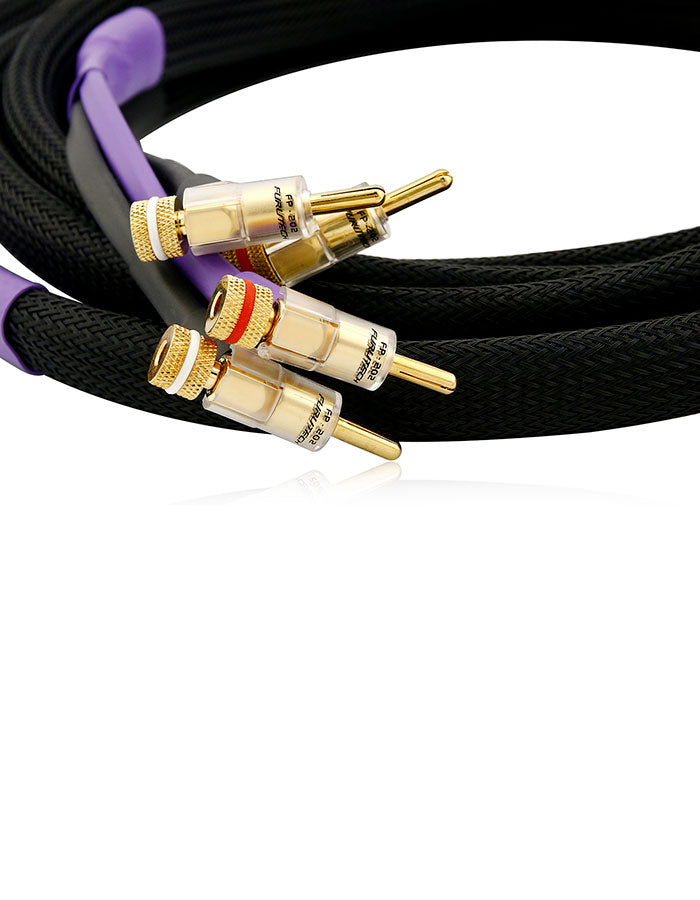 AAC SC-5SE Speaker Cable Pair Gold Banana