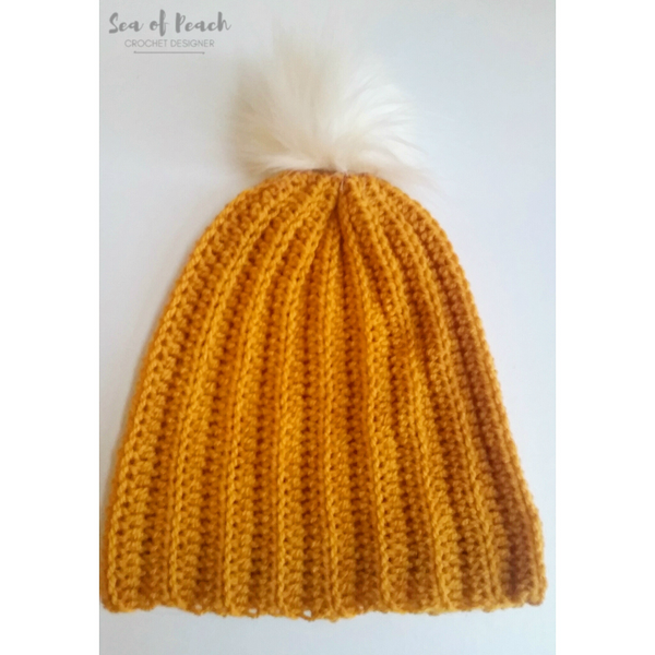 Ribbed Pom Pom Beanie - Cthulhu Cat Cult