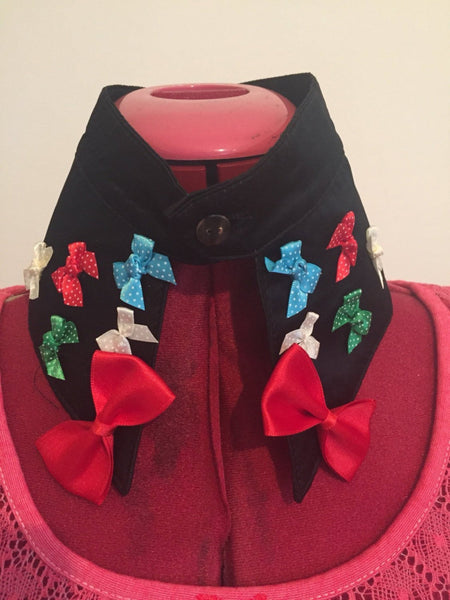 Retro Style Hand Decorated Collar with Bows. The Perfect Neck Accessory. - Cthulhu Cat Cult