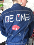 Lost Boys Themed Hand Decorated, Painted, Studded Vampire Denim Jacket. Size 10-12. - Cthulhu Cat Cult