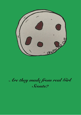 Addams Family Themed Girl Scouts Print. Morbid Green Movie Quotes. Available in A4 and A5. - Cthulhu Cat Cult