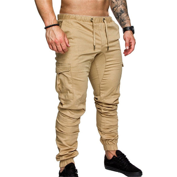 Military Multi Pockets Skinny Pants Men