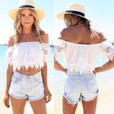 White Blouse Off Shoulder