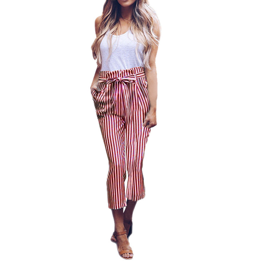 Waist Stripe Casual Pants