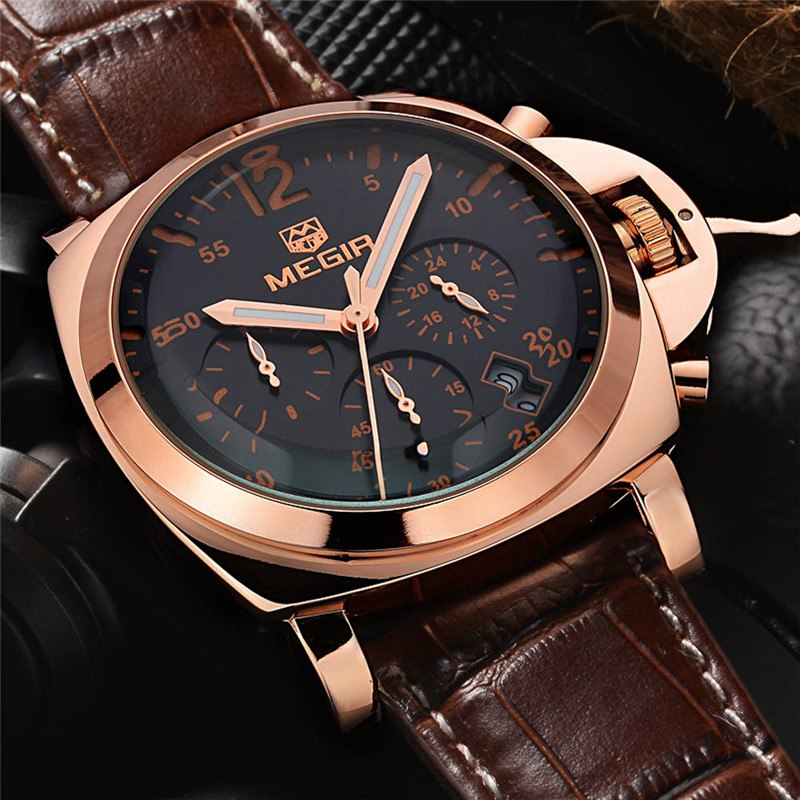 Military Chronograph Sports Men Quartz Watches