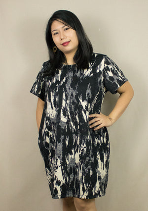 'JANE' ABSTRACT PRINT DRESS