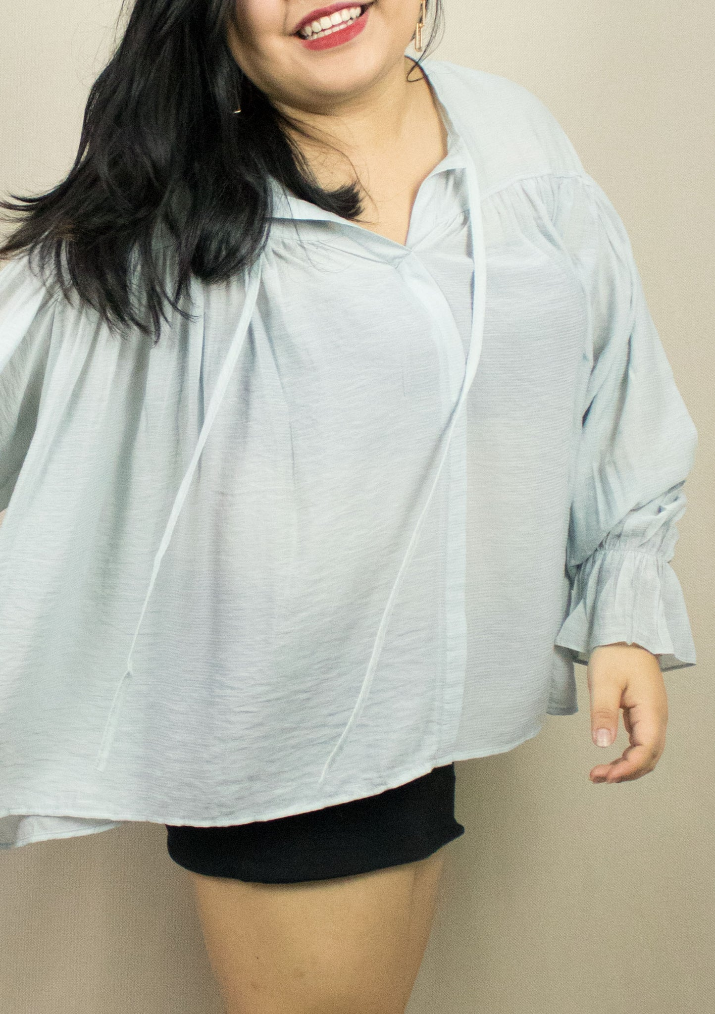 'FLORENCE' PALE OVERSIZE BLOUSE